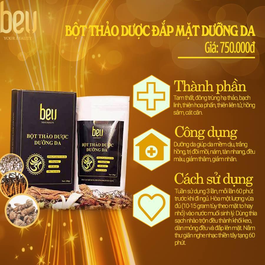 Bột thảo dược đắp mặt dưỡng da BeU - 750.000đ / 150 gram