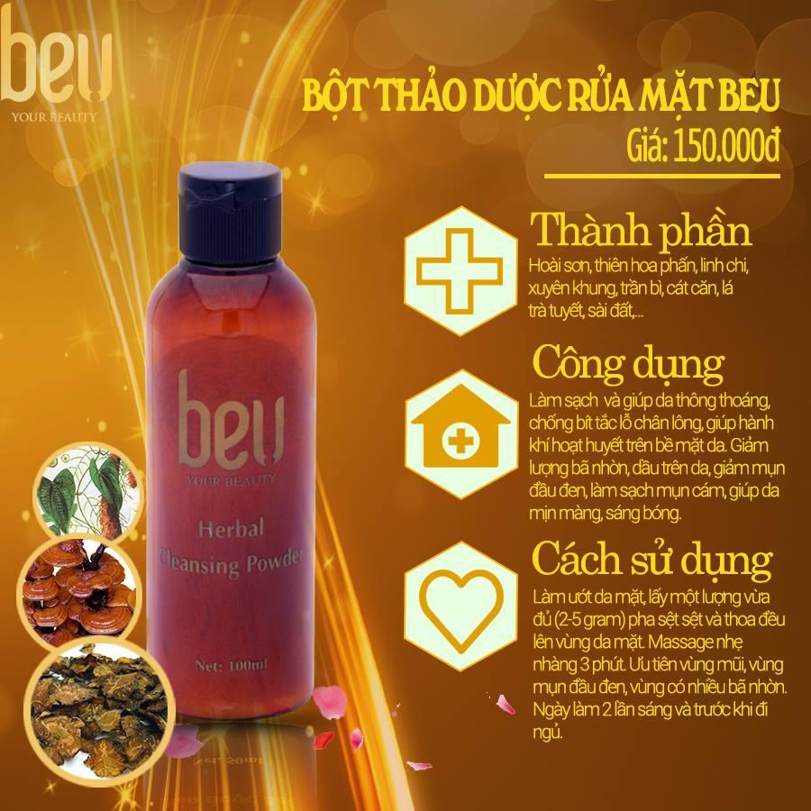 Bột thảo dược rửa mặt sạch mụn cám BeU - 150.000đ / 50 gram