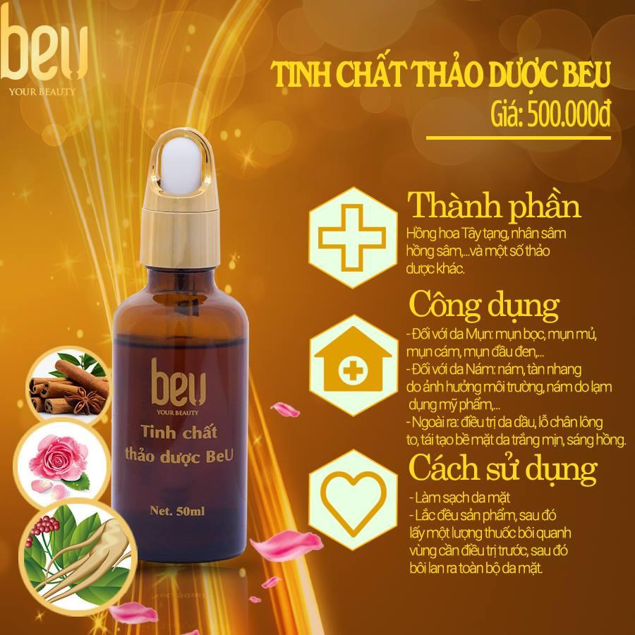 Tinh chất thảo dược trị mụn , hết mụn, hết nám, tái tạo làn da BeU - 500.000đ / 50 ml