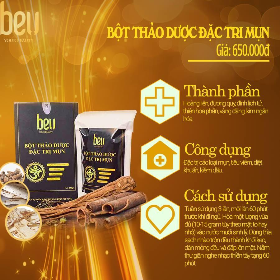 Bột thảo dược đắp mặt đặc trị mụn BeU - 650.000đ/ 150 gram