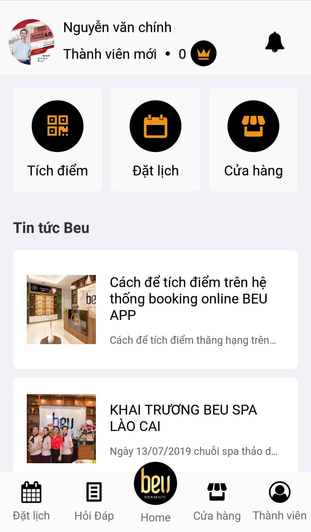 Hướng dẫn cài đặt và sử dụng App Beu Booking